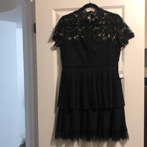 Zara lace dress with layered skirt size large